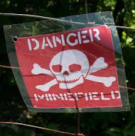 land mine sign croatian